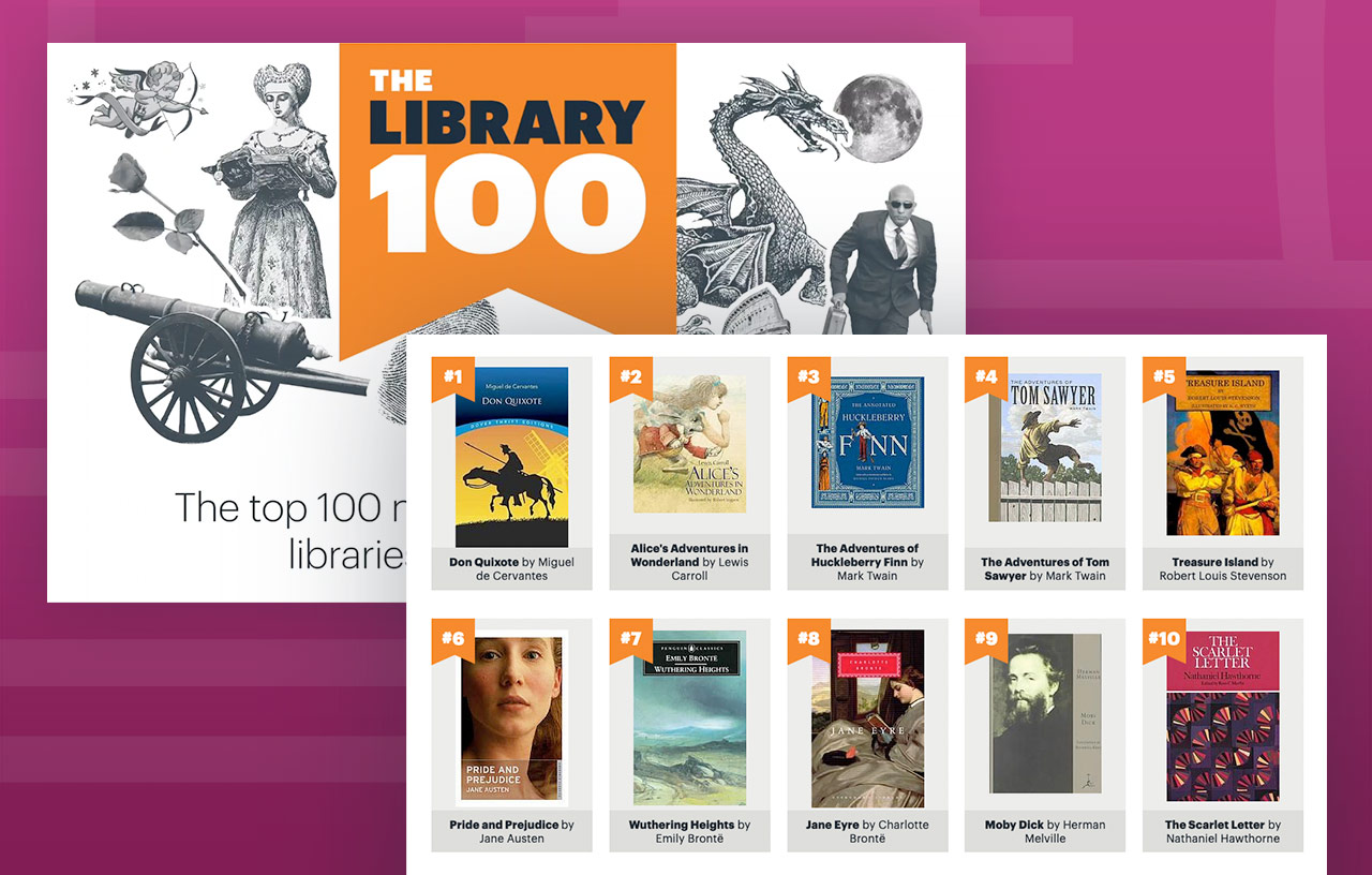 Illustration: The Library 100 website