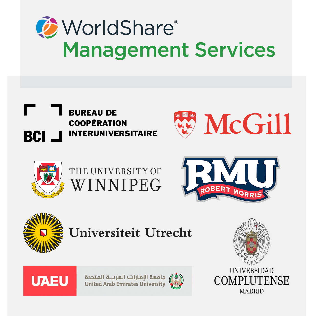 Diagram: Recent adopters of WorldShare Management Services