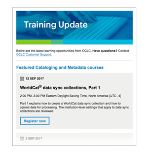 Image: OCLC Training Updates
