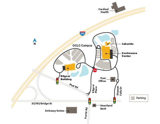 map of OCLC headquarters campus