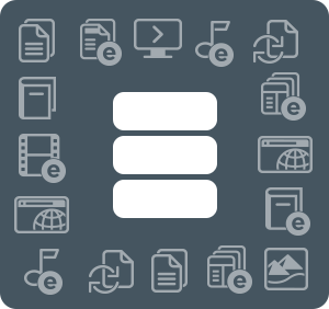 Database with format icons