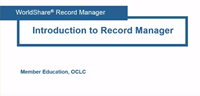 Introduction to Record Manager