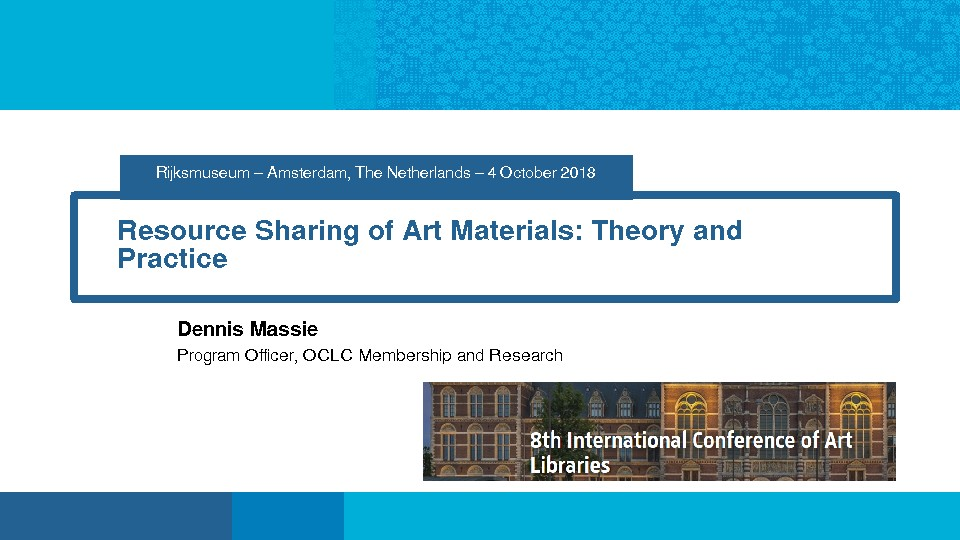 Resource Sharing of Art Materials: Theory and Practice