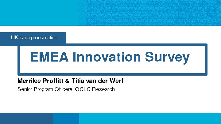 EMEA Innovation Survey