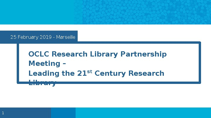 Leading the 21st Century Research Library