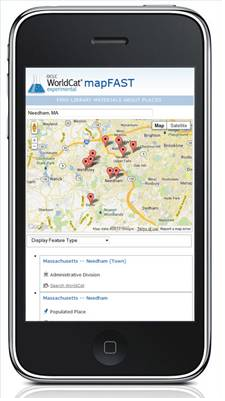 Explore the world: find books or other library materials about places with mapFAST Mobile