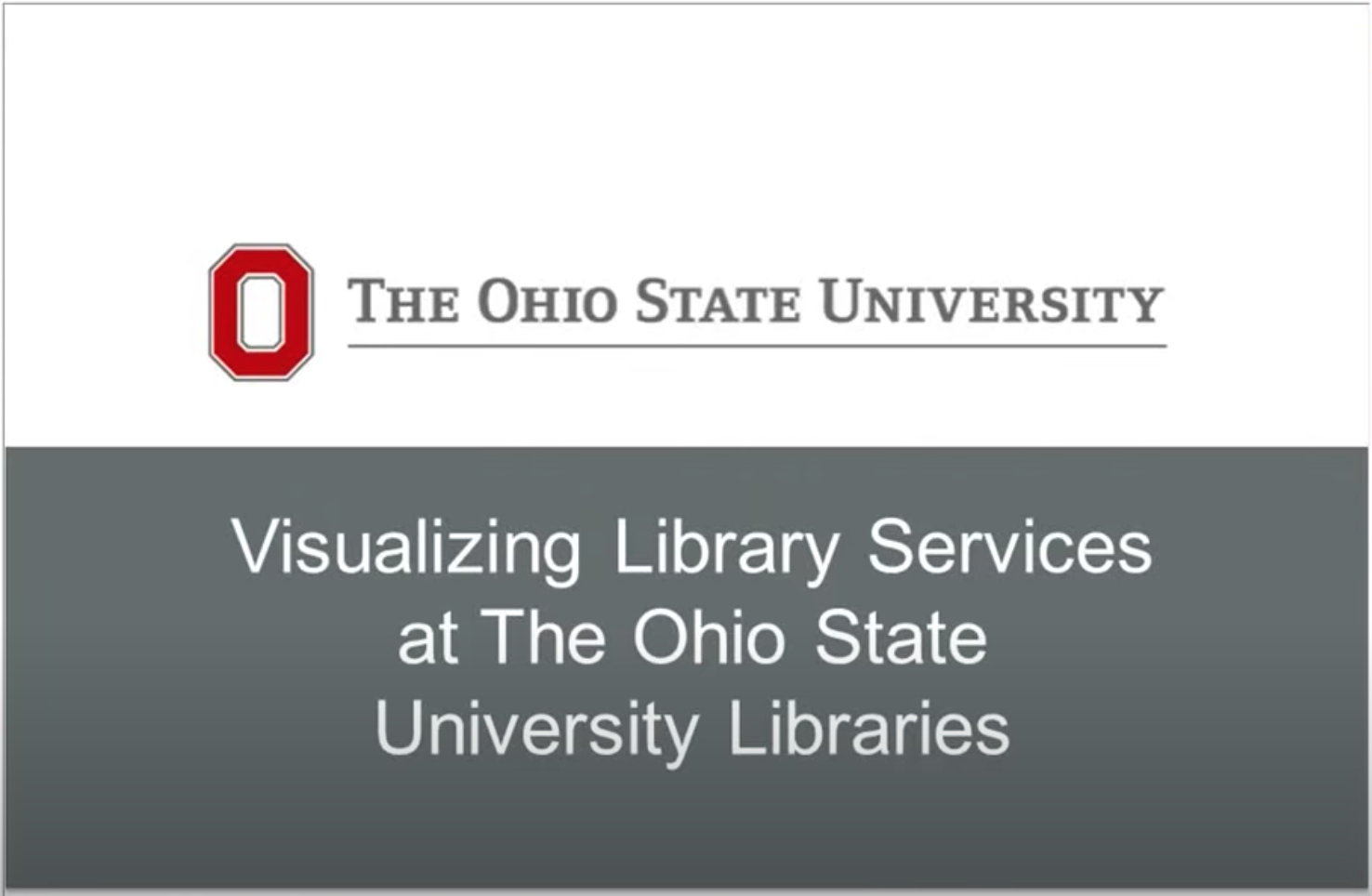 Visualizing Library Services – Case Studies from Ohio State and Yale
