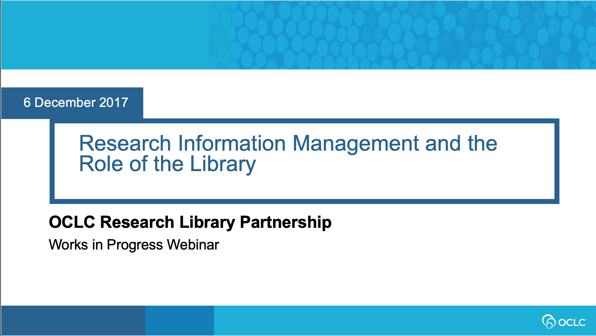 Research Information Management and the Role of the Library