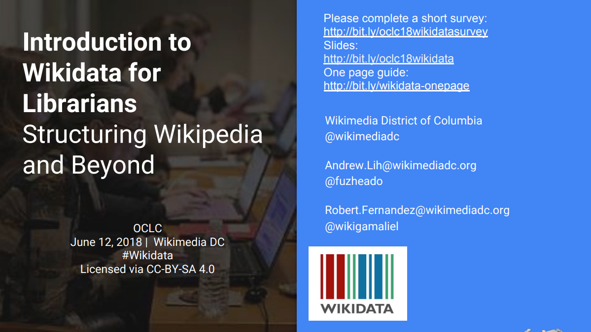 Introduction to Wikidata for Librarians
