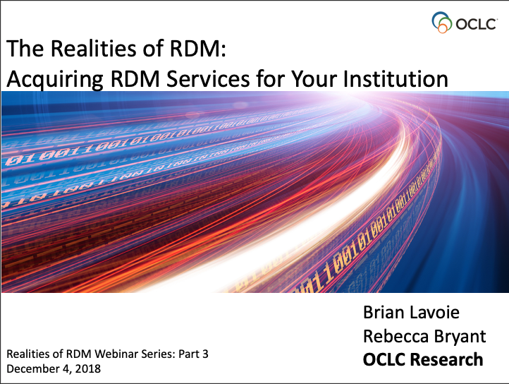 Acquiring RDM Services for Your Institution (video)