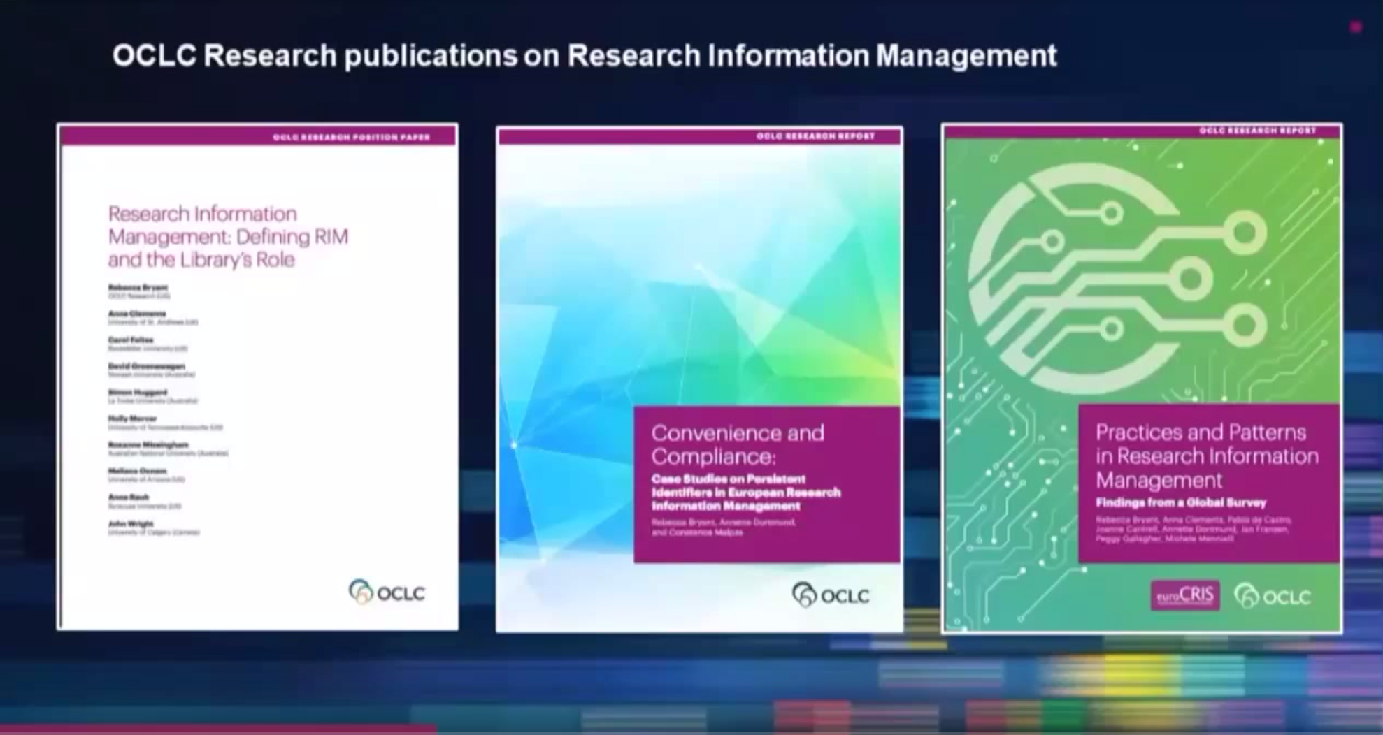 Practices and Patterns in Research Information Management: Findings from a Global Survey