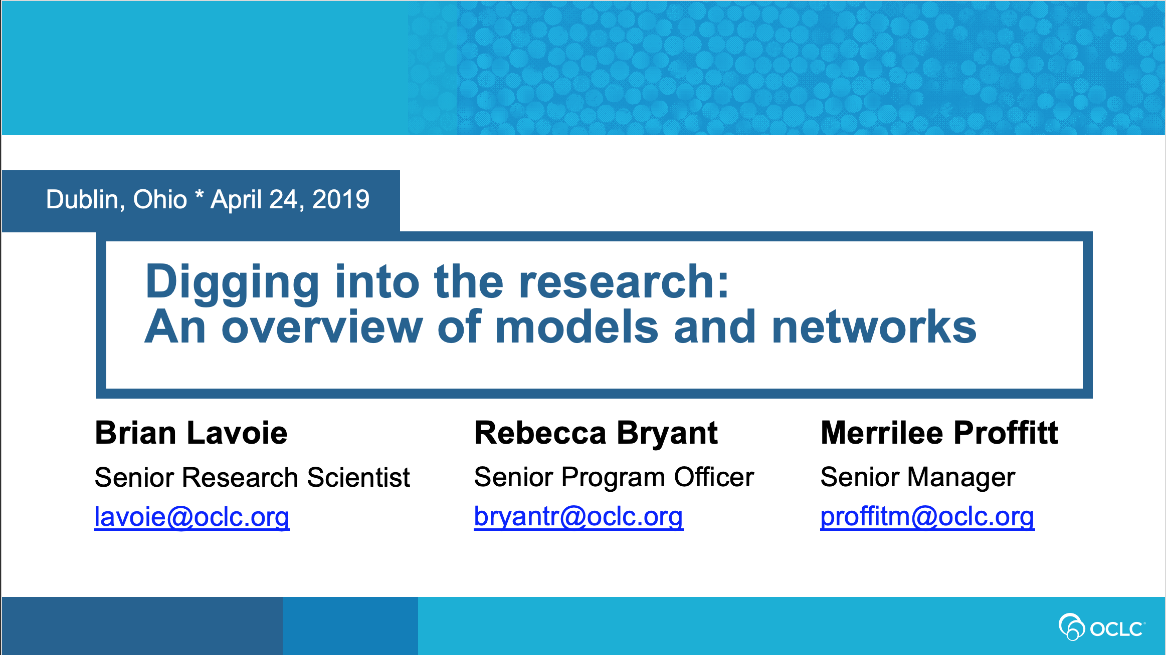Digging into the Research: An Overview of Models and Networks