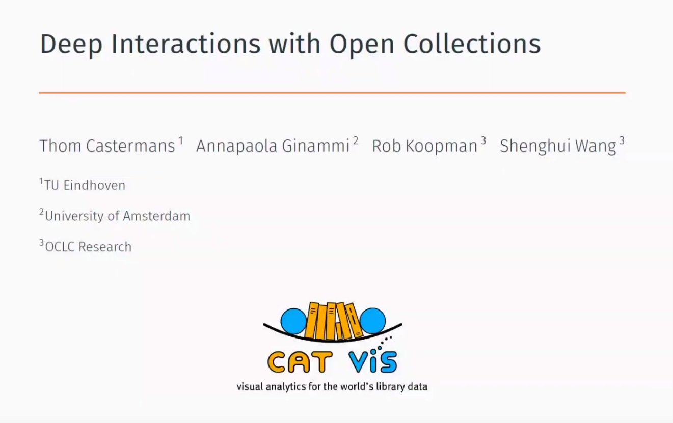 Deep-interactions with Open Collections (video)