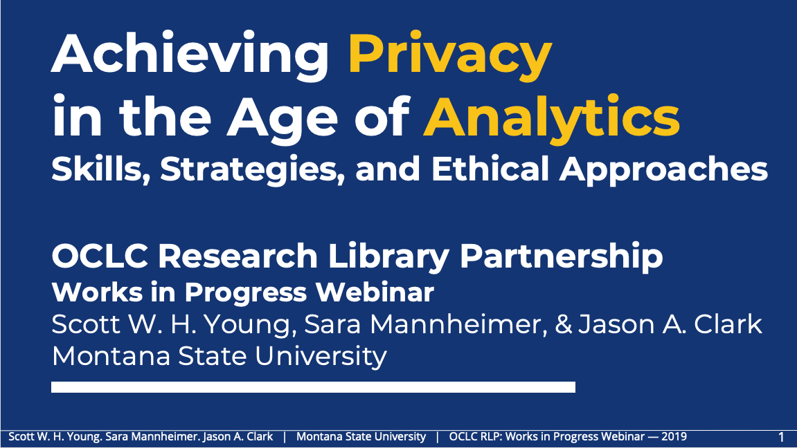 Achieving Privacy in the Age of Analytics: Skills, Strategies, and Ethical Approaches