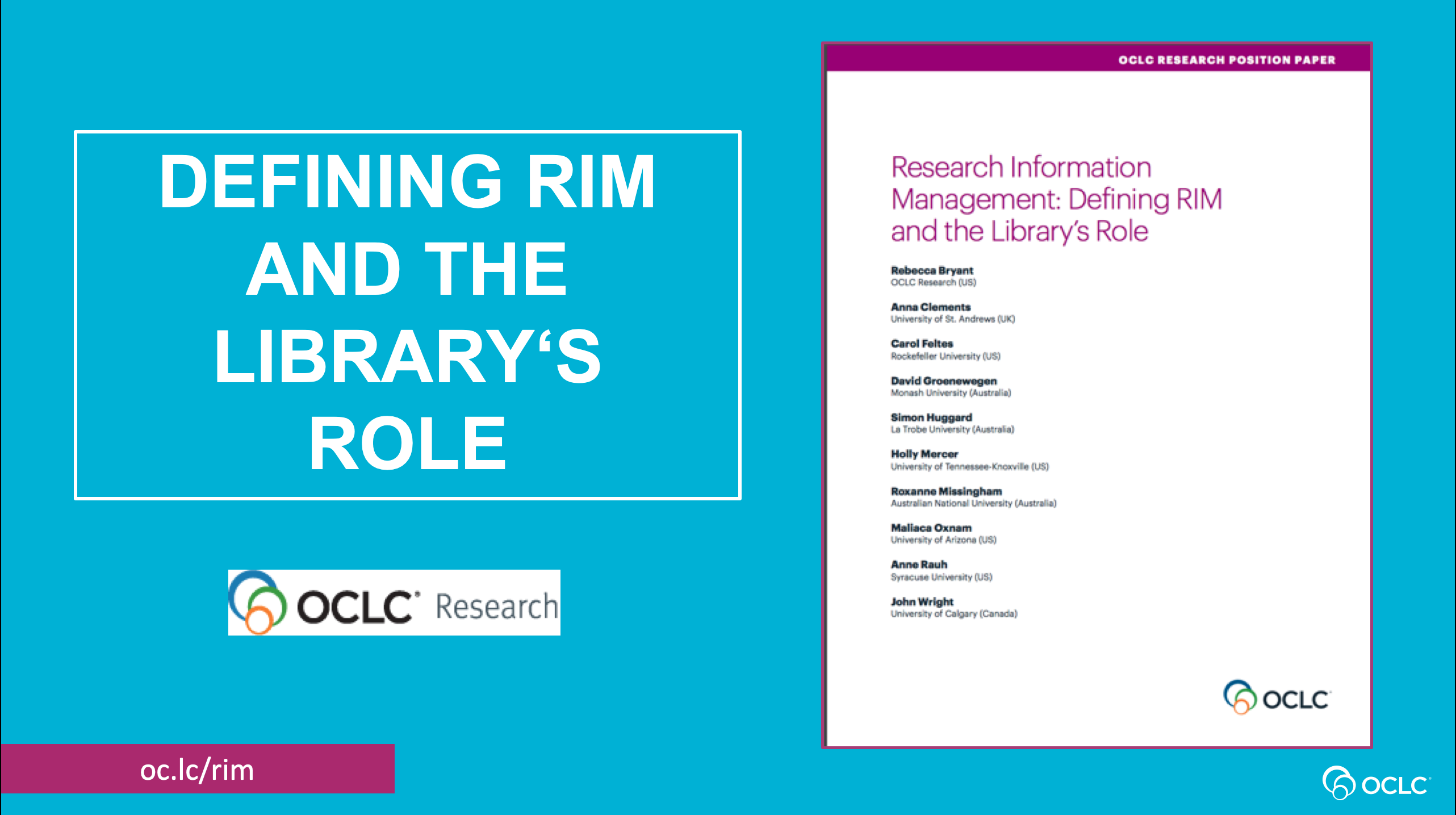 Research Information Management: Libraries Leading the Way