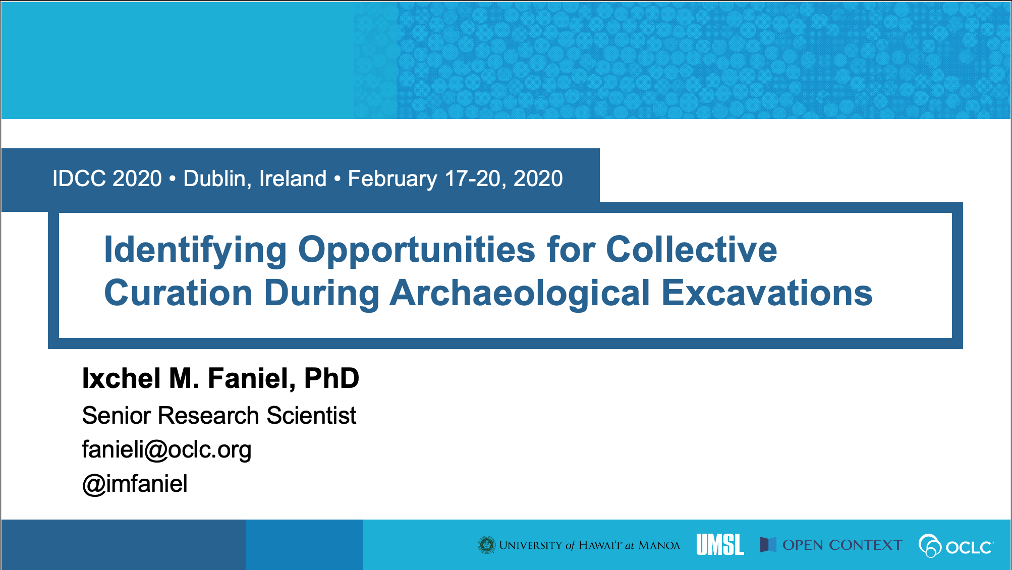 Identifying Opportunities for Collective Curation During Archaeological Excavations