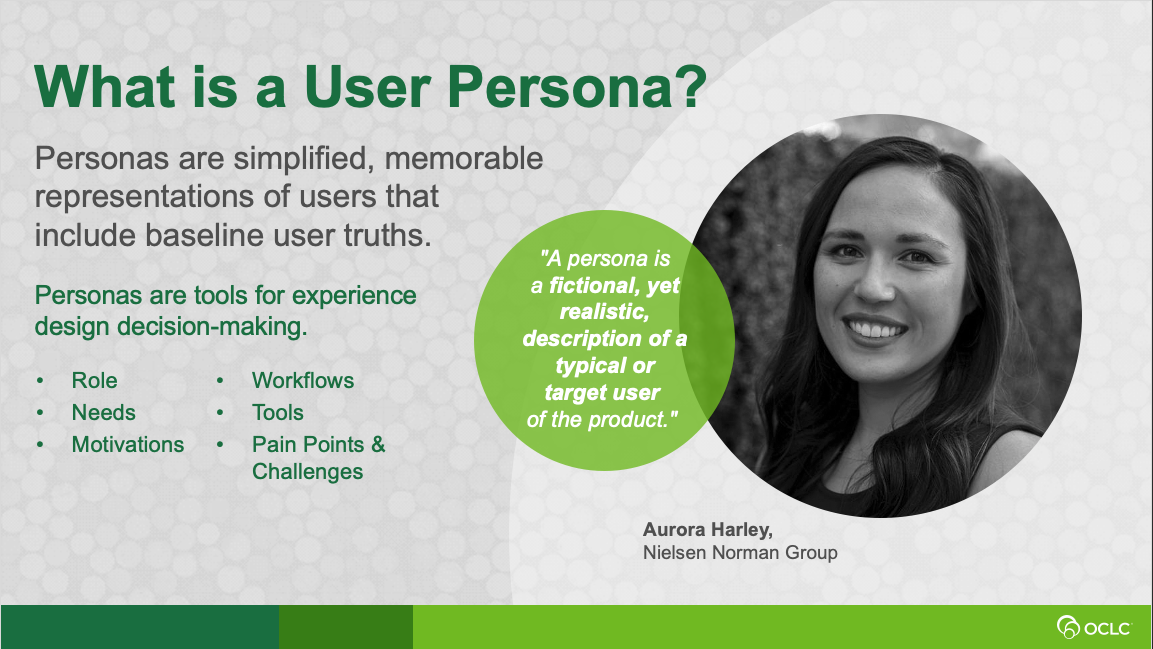 Better design -- tools for creating user personas