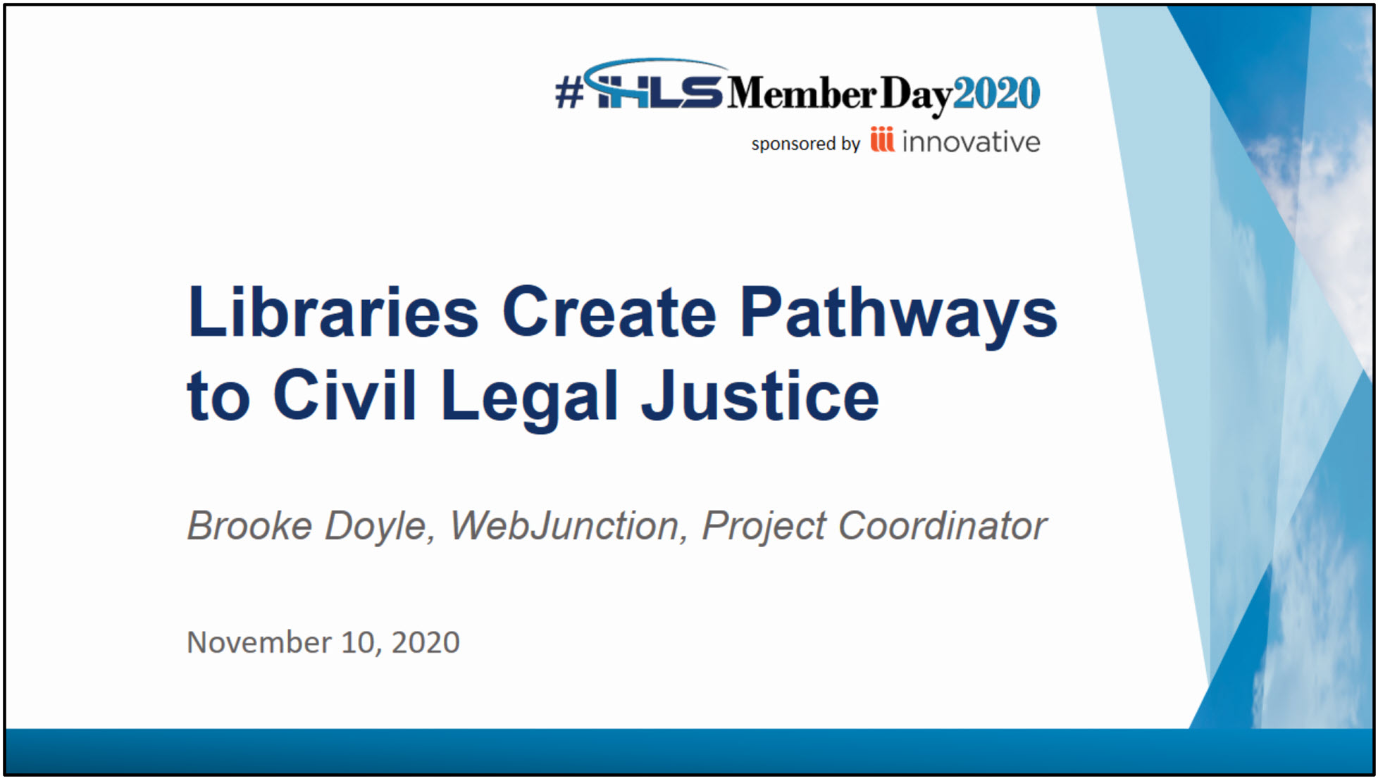 Libraries Create Pathways to Civil Legal Justice