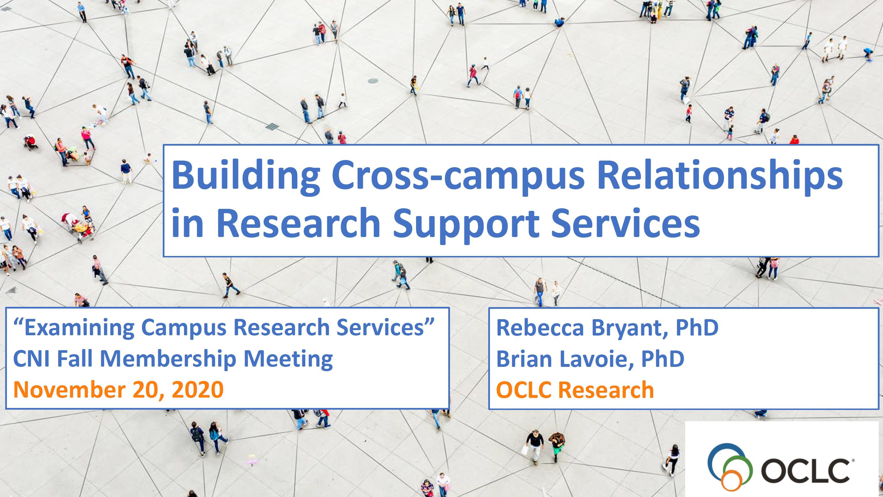 Building Cross-campus Relationships
