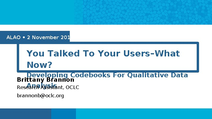 You Talked To Your Users--What Now?: Developing Codebooks For Qualitative Data Analysis