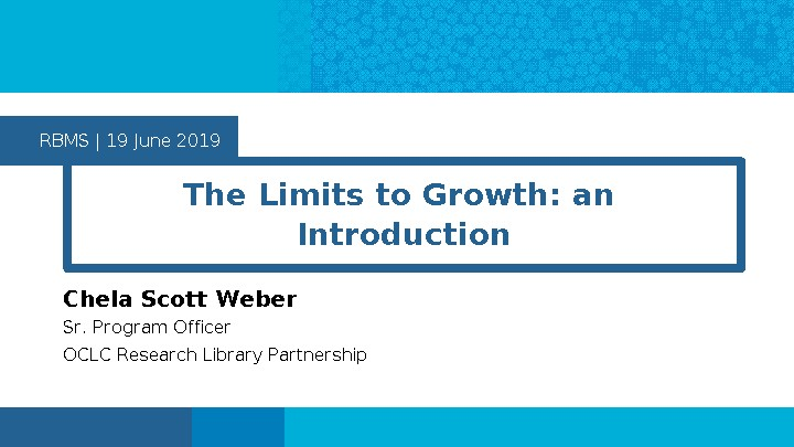 The Limits to Growth: an Introduction