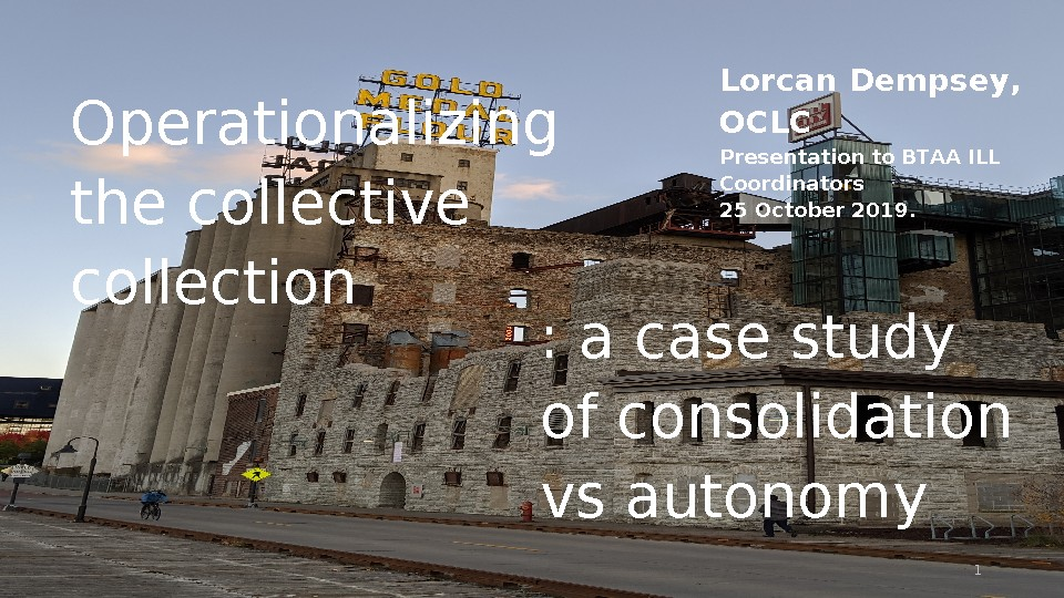Operationalizing the Collective Collection: A Case Study of Consolidation vs Autonomy