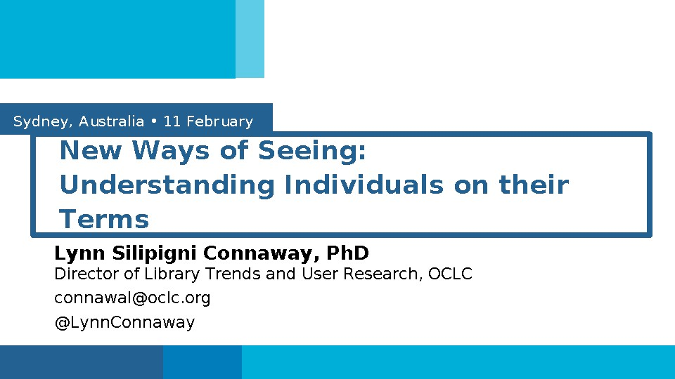 New ways of seeing: Understanding individuals on their terms