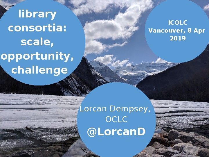 Library Consortia: Scale, Opportunity, Challenge