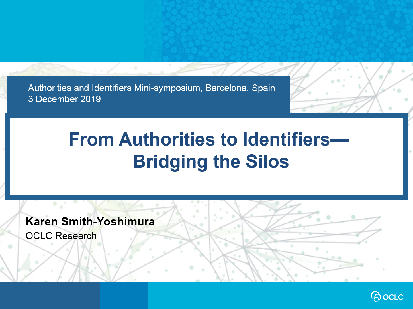 From Authorities to Identifiers—Bridging the Silos