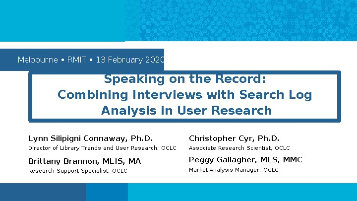 Speaking on the Record: Combining Interviews with Search Log Analysis in User Research