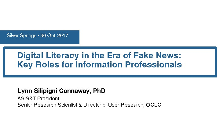 Digital Literacy in the Era of Fake News: Key Roles for Information Professionals