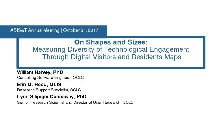 On Shapes and Sizes: Measuring Diversity of Technological Engagement Through Digital Visitors and Residents Maps