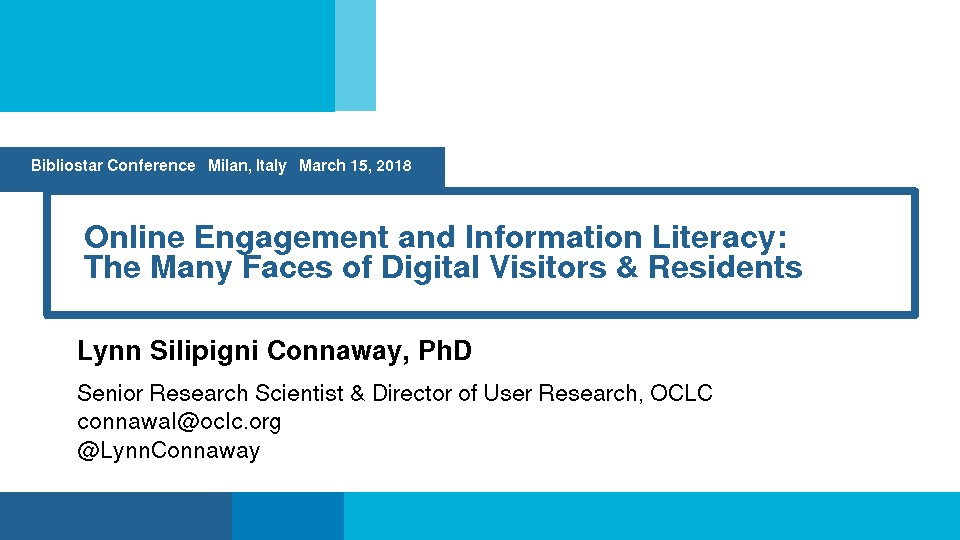 Online Engagement and Information Literacy: The Many Faces of Digital Visitors & Residents