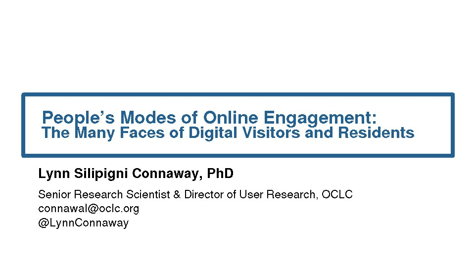 People's Modes of Online Engagement: The Many Faces of Digital Visitors and Residents