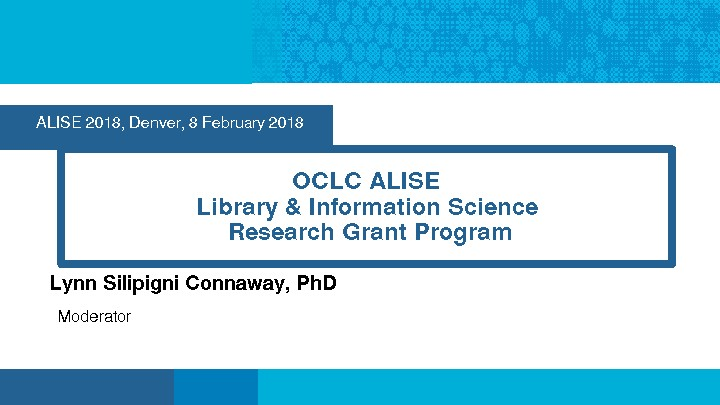 OCLC ALISE Library & Information Science Research Grant Program