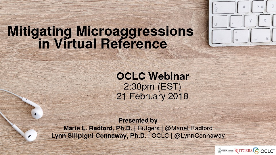 Mitigating Microaggressions in Virtual Reference
