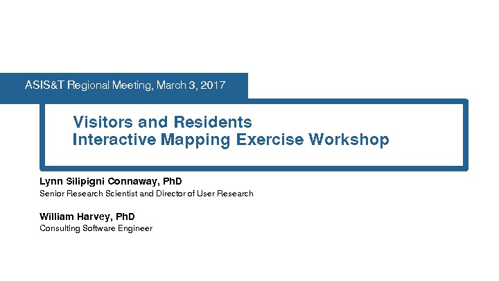 Visitors and Residents Interactive Mapping Exercise Workshop