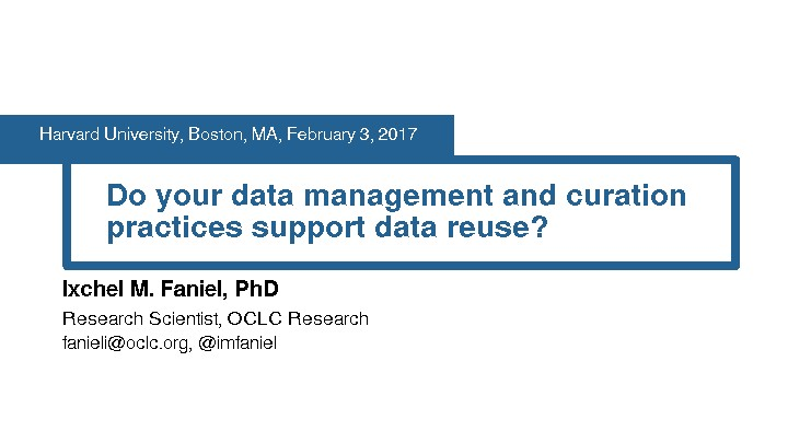 Do Your Data Management and Curation Practices Support Data Reuse?
