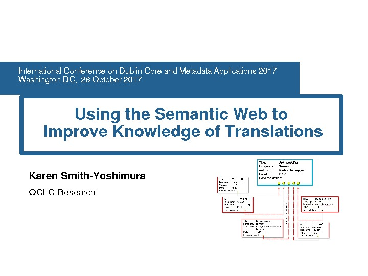 Using the Semantic Web to Improve Knowledge of Translations