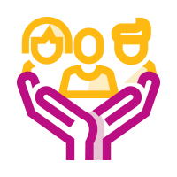 Icon of hands holding community