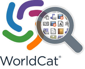 WorldCat logo with magnifying glass