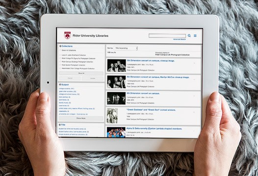 CONTENTdm collection on tablet