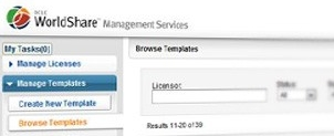 Screenshot of WorldShare Management system