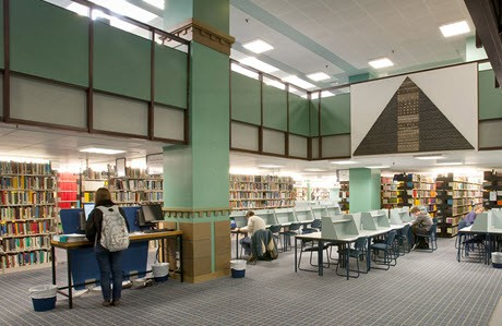 Students in the general library, the University of Auckland