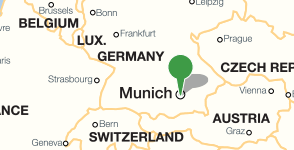 Map showing location of the Bavarian State Library