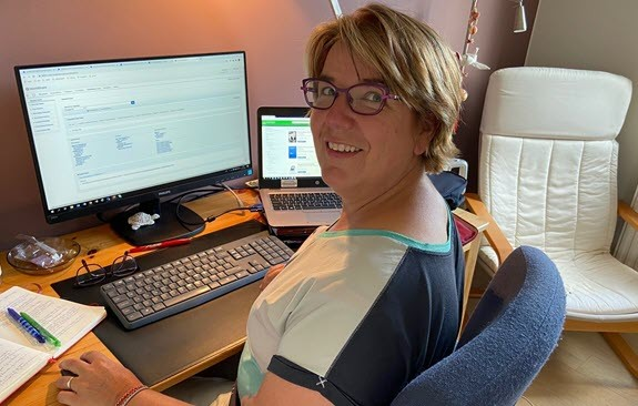Petra Otten configures Tipasa from her home office to support ILL staff members.