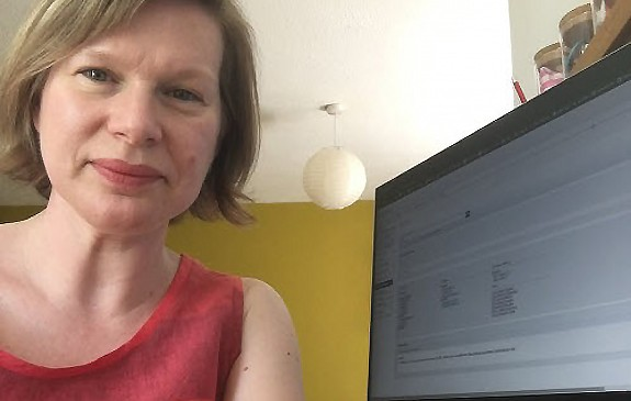 Zoë White has continued to supply e-resources from her home office