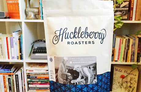 A bag of 641.3373 Blend coffee created for Denver Public Library