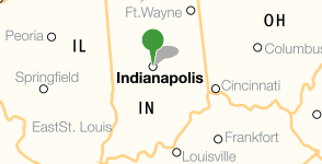 Map showing location of the Indiana Historical Society
