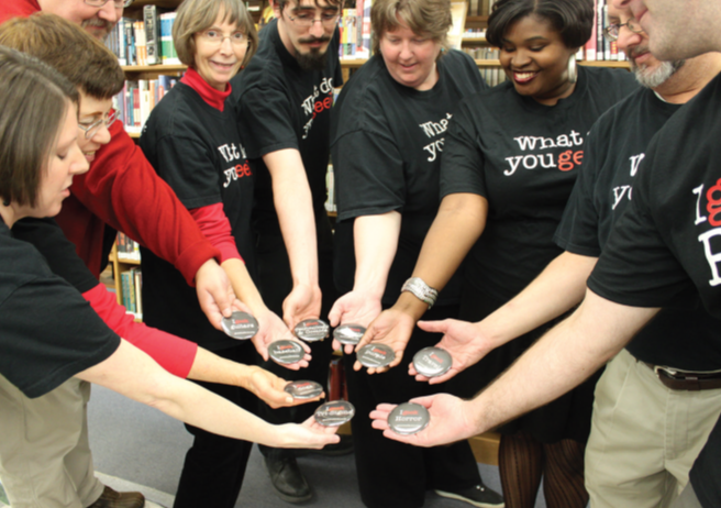 Photo of staff members at East Baton Rouge Parish Library